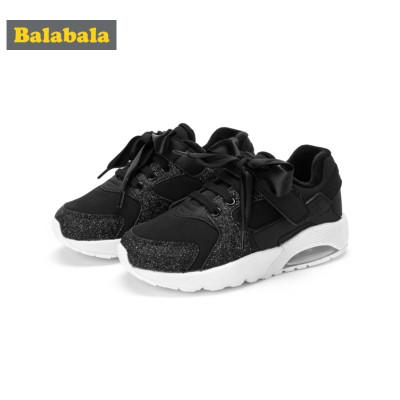 balabala巴拉巴拉女童鞋大童棉鞋运动鞋2018新款冬季气垫鞋儿童鞋子保暖防滑潮 巴拉巴拉(balabala)儿童运动鞋