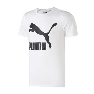 PUMA 彪马 579405 男装跑步训练经典LOGO款圆领短袖T恤