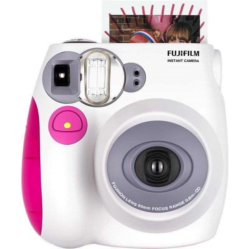 富士(FUJIFILM)INSTAX 一次成像立拍立得instax mini7s 粉色 单机 胶片相机 富士小尺寸