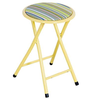 好事达布面钢折椅(绿色条纹)HT-GBY-B-7256