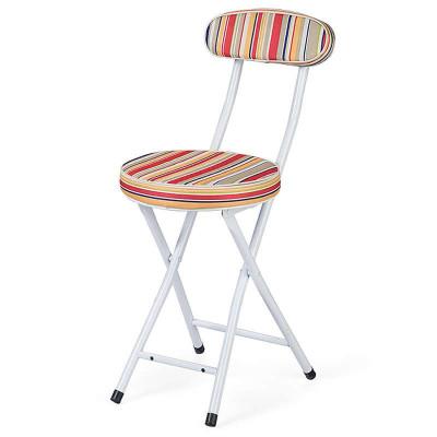 好事达布面靠背钢折椅(红色条纹)HT-GBY-B-7218(1)