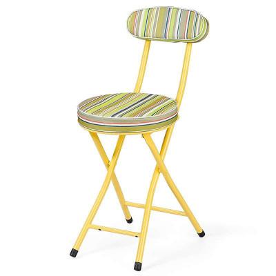 好事达布面靠背钢折椅(绿色条纹)HT-GBY-B-7218