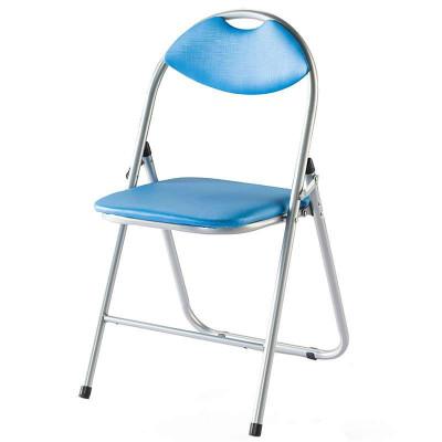 好事达实惠带孔扇形钢折椅(前H后U蓝色)HT-GSY-X-6598(1)