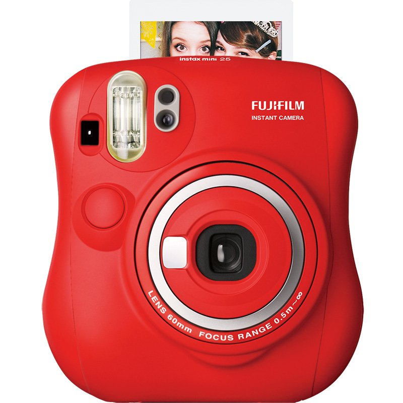富士(FUJIFILM)INSTAX 一次成像相机立拍立得 mini25 红色 单机