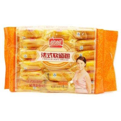 苏宁超市自营盼盼 法式软面包400g 香橙味