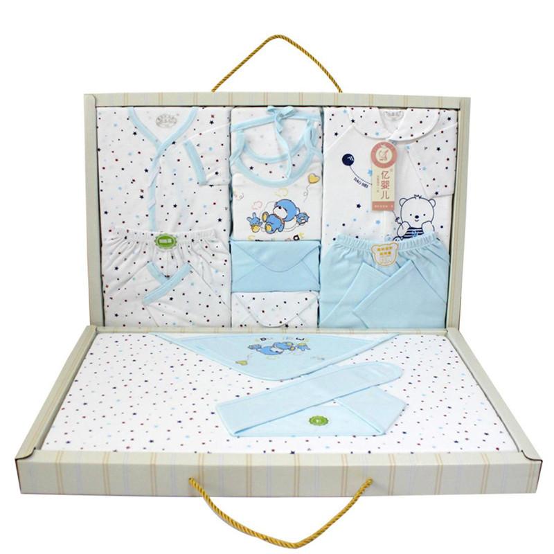 亿婴儿 双层带抱被婴儿内衣礼盒婴幼儿通用新生儿礼盒套装 Y2181 59-66cm