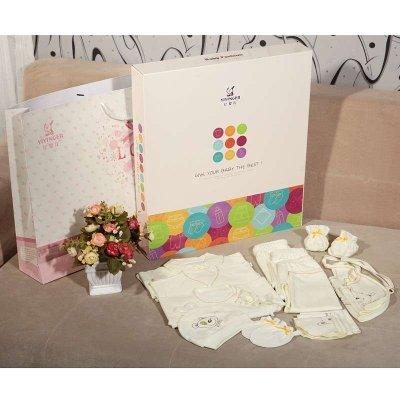 亿婴儿 婴儿礼盒套装婴儿衣服秋季婴幼儿通用宝宝内衣礼盒17件套 636
