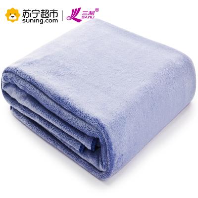 三利 超柔软加厚加大素色大浴巾 男女同款 强吸水 裹身抹胸洗澡巾
