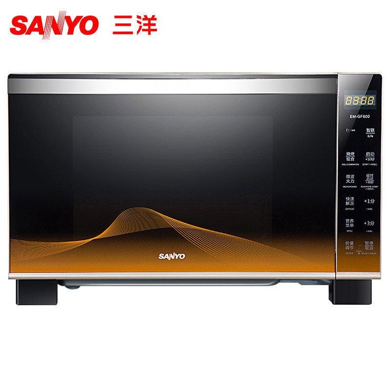 三洋(SANYO) 微波炉 EM-GF600 平板 25L 微电脑 烧烤 WIFI