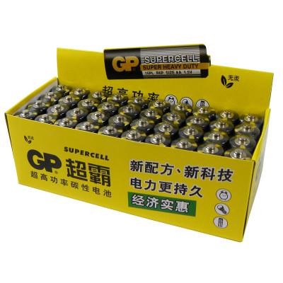GP超霸通用7号七号40粒碳性干电池儿童玩具体重秤批发遥控器鼠标电池