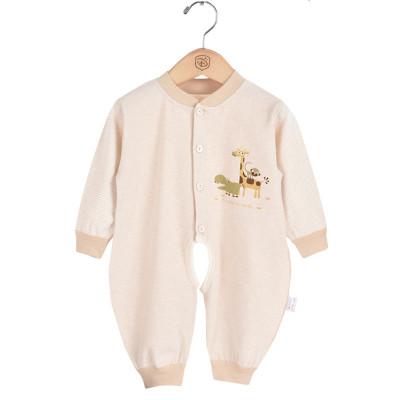 香港亿婴儿 婴儿连体衣宝宝内衣连体衣彩棉对开哈衣爬服 Y3019