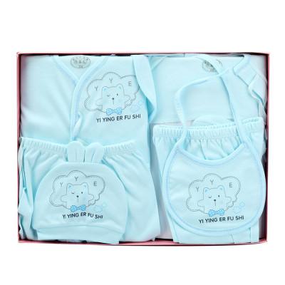 香港亿婴儿 婴儿内衣礼盒婴儿衣服新生儿礼盒内衣棉6件套婴幼儿通用 Y7002