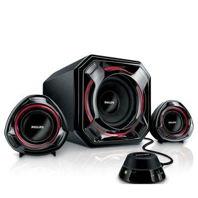 飞利浦(Philips)音箱 音响 台式电脑音响 低音炮2.1多媒体小音箱 黑色