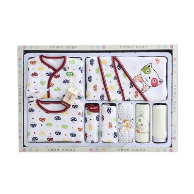 香港亿婴儿 小蘑菇婴儿内衣礼盒9件套新生儿礼盒套装婴幼儿通用 Y1633