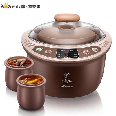 小熊(Bear)紫砂电炖锅 DDZ-C18Z3 1.8升大容量 一锅三胆1-2L家庭隔水炖 智能多功能煲汤甜品煮粥电炖盅