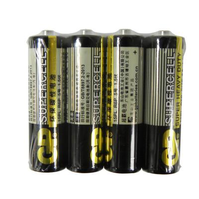 GP超霸通用5号4粒五号耐用碳性干电池 儿童玩具/血压计/血糖仪/遥控器/挂钟/键盘电池