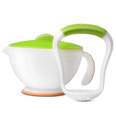 努比(Nuby) 婴儿蒸食研磨碗 宝宝辅食研磨器婴儿手动研磨碗 白