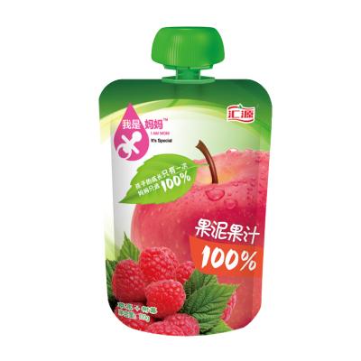 汇源 100%果泥果蔬汁-苹果+树莓 120gX1 袋装