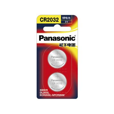 松下 Panasonic CR2032进口纽扣电池3V2粒装 电压6 锂电池 数码电池 其他