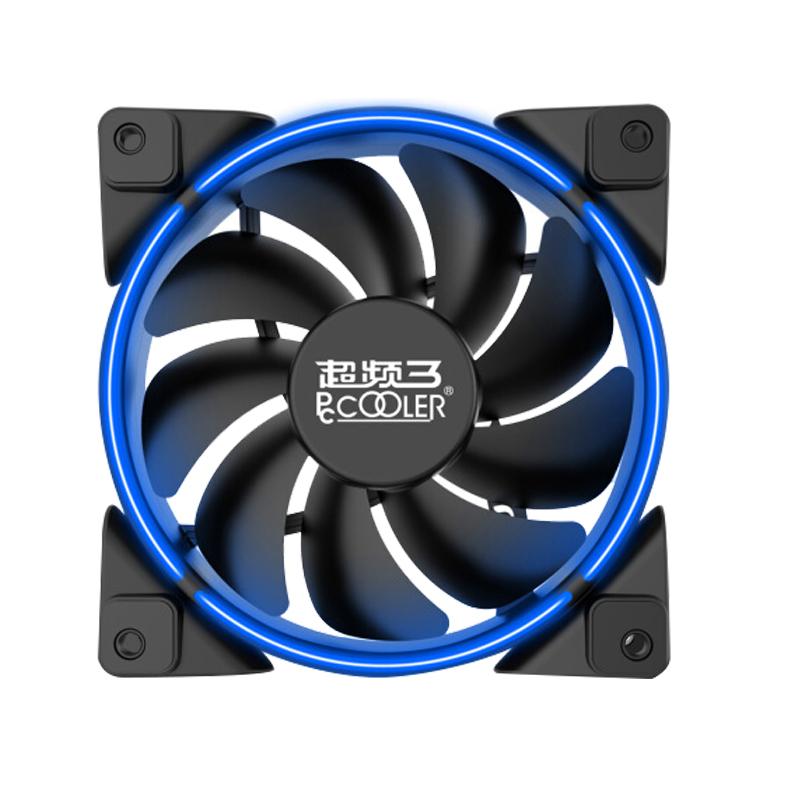 超频三(PCCOOLER)皓月 12CM蓝光 机箱风扇 (水冷排散热/电脑电源风扇/CPU风扇/减震静音/赠4颗螺丝)