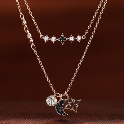 SWAROVSKI施华洛世奇鬼怪星星月亮水晶项链 人造水晶 送恋人5273290