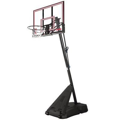 斯伯丁SPALDING篮球板75766便携式可移动54寸按钮式篮板