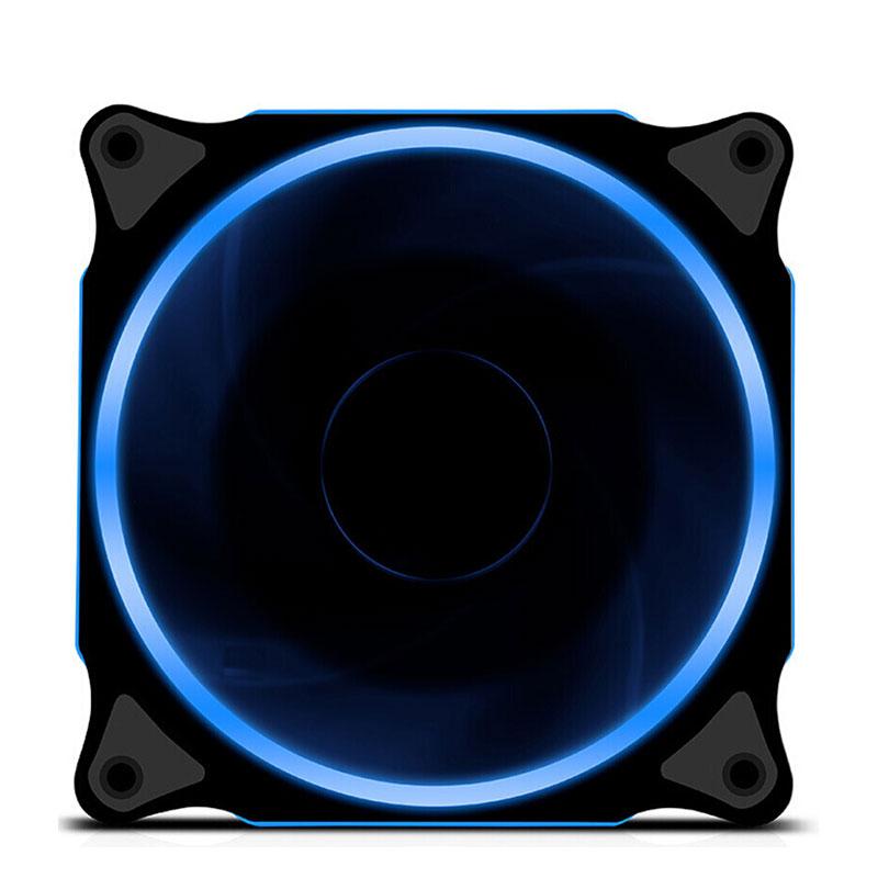 京天(KOTIN) 鑫谷光韵12CM炫酷光圈/减震/静音/台式组装电脑主机机箱散热风扇 蓝色自营