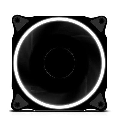 京天(KOTIN) 鑫谷光韵12CM炫酷光圈/减震/静音/台式组装电脑主机机箱散热风扇 白色自营