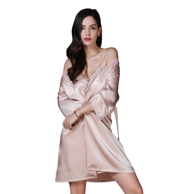 上海故事睡衣女夏天两件套睡袍夏季薄蕾丝性感吊带睡裙冰丝家居服