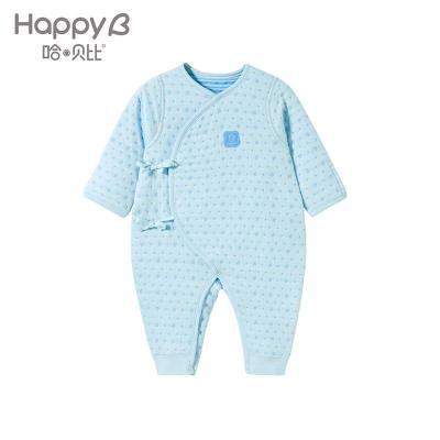 哈贝比(happyB) 哈贝比婴儿衣服新生儿连体衣冬装保暖男女宝宝和尚内衣哈衣爬爬服
