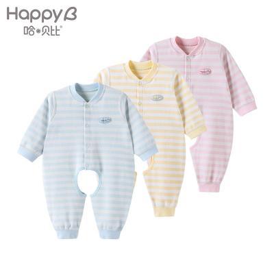 哈贝比(happyB) 婴儿衣服 新生儿连体衣 春秋长袖男女宝宝哈衣爬爬服婴幼童内衣