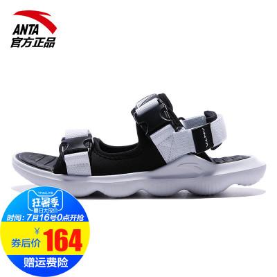 安踏凉鞋男沙滩鞋2019夏季新款帆布凉鞋运动鞋休闲男鞋