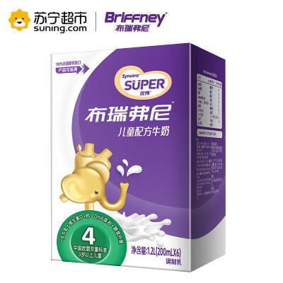 圣元(Synutra)优博 布瑞弗尼4段儿童配方牛奶 200ml*6 轻享装 (适合3岁及以上儿童) 法国原装进口