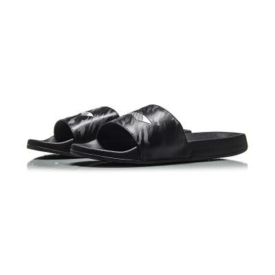 【自营】李宁LINING男子拖鞋凉拖一字拖休闲运动鞋AGAN021-4 AGAN021-4标准黑