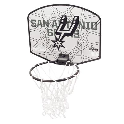 斯伯丁SPALDING篮球板马刺队徽小篮板儿童娱乐77-666Y 送mini小球挂式篮球板(娱乐)