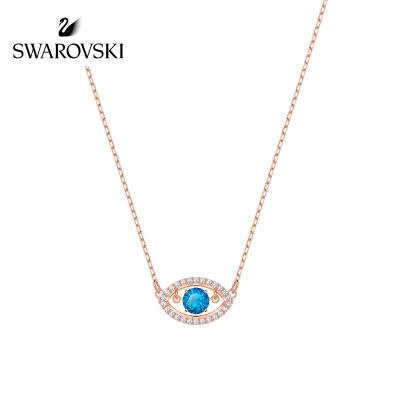 SWAROVSKI施华洛世奇 19新款跳动的心恶魔之眼水晶项链 女士 人造水晶 送恋人 5448611