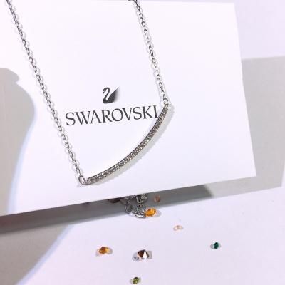 Swarovski施华洛世奇 简约微笑水晶项链女士 人造水晶 送恋人