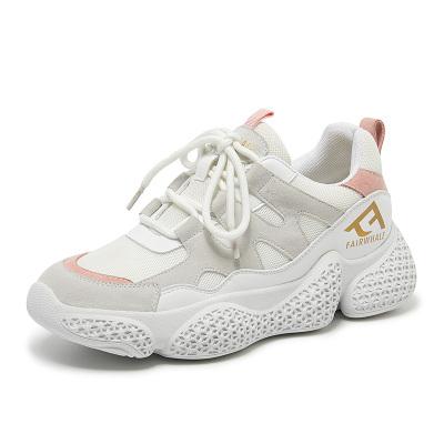 马克华菲女士板鞋2019年夏季新款韩版百搭休闲运动透气网鞋女鞋
