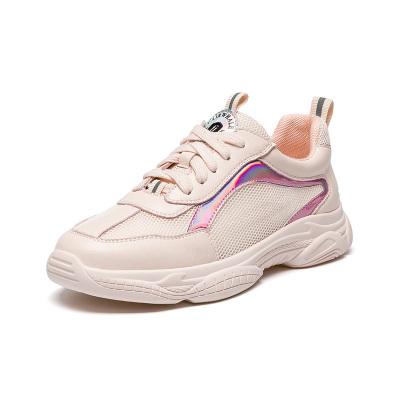 马克华菲女士板鞋2019年夏季新款网鞋女透气网面休闲运动鞋女鞋