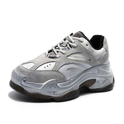 马克华菲女士老爹鞋女鞋女运动鞋加绒女鞋牛反绒平底百搭休闲擦脏女鞋