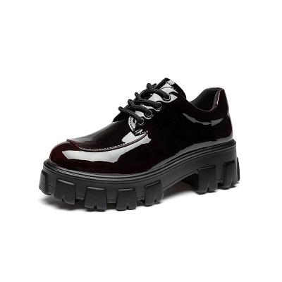 马克华菲女鞋单鞋中跟单鞋粗跟单鞋女士皮鞋英伦小皮鞋女单皮鞋女鞋