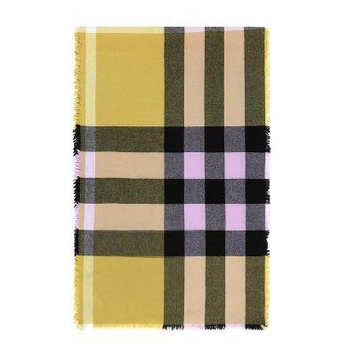 BURBERRY 博柏利 女款格纹混纺围巾披肩 80057701
