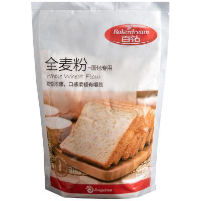 百钻全麦粉 含麦麸面包专用面粉 粗粮小麦粉烘焙原料家庭装500g