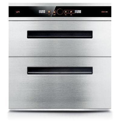 优盟(UM) 120L大容量 高温二星级家用消毒碗柜嵌入式消毒柜不锈钢特价三层抽 UX314