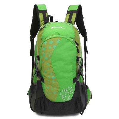 瑞士军刀SWISSGEAR 登山包 双肩背包休闲运动户外包 防泼水专用格子面料30L配防雨罩JP3002绿色