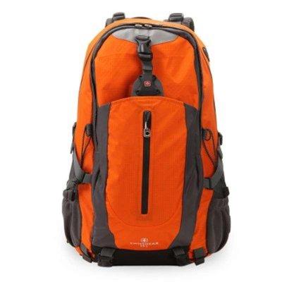 瑞士军刀SWISSGEAR 登山包 双肩包 休闲运动包 旅游包 电脑包 45L配防雨罩JP3502 橘黄色防泼水