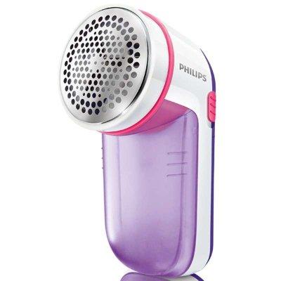 飞利浦(Philips) 干电式(放电池)衣物去毛球器GC026 剃绒毛器 可分离毛球盒 紫色