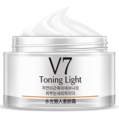 韩婵V7素颜霜懒人面霜50g 裸妆遮瑕保湿补水护肤品