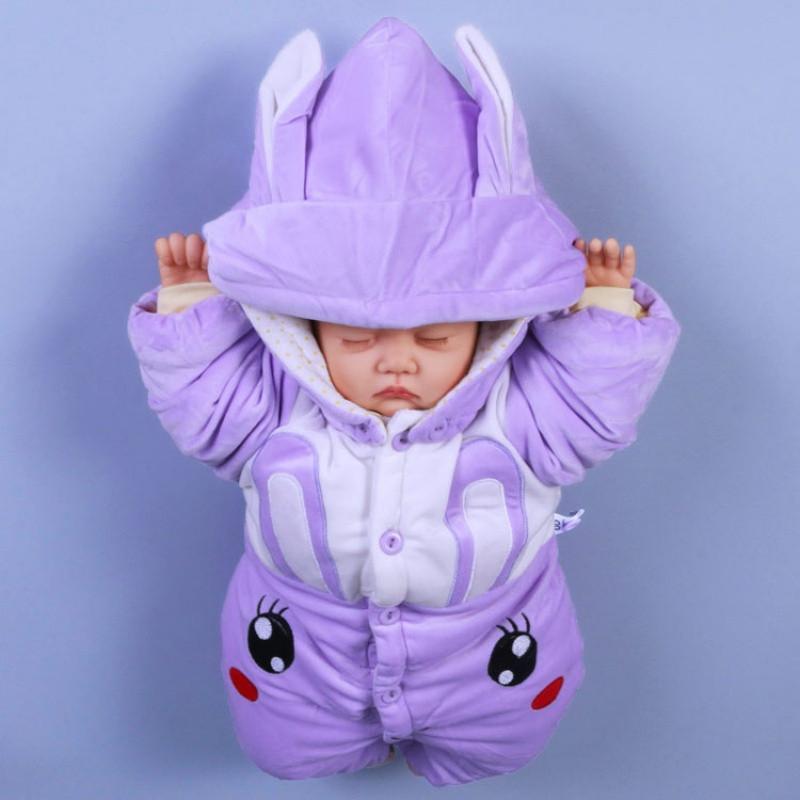 新款冬季满月新生儿女男宝宝秋冬装0婴儿连体