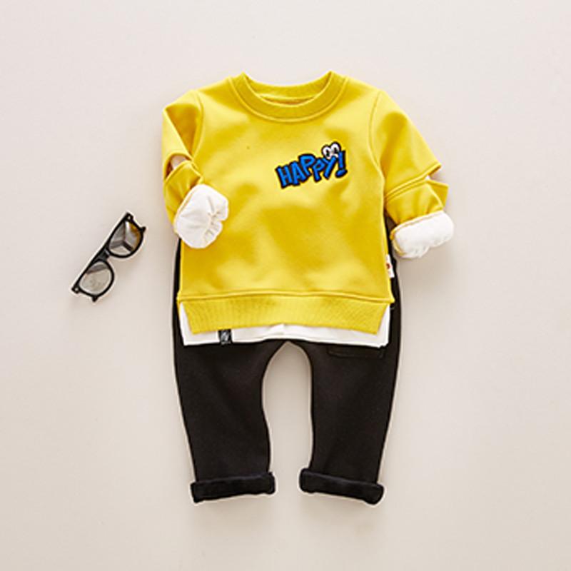 新款天天特价童装男童宝宝加绒套装女0-1岁婴